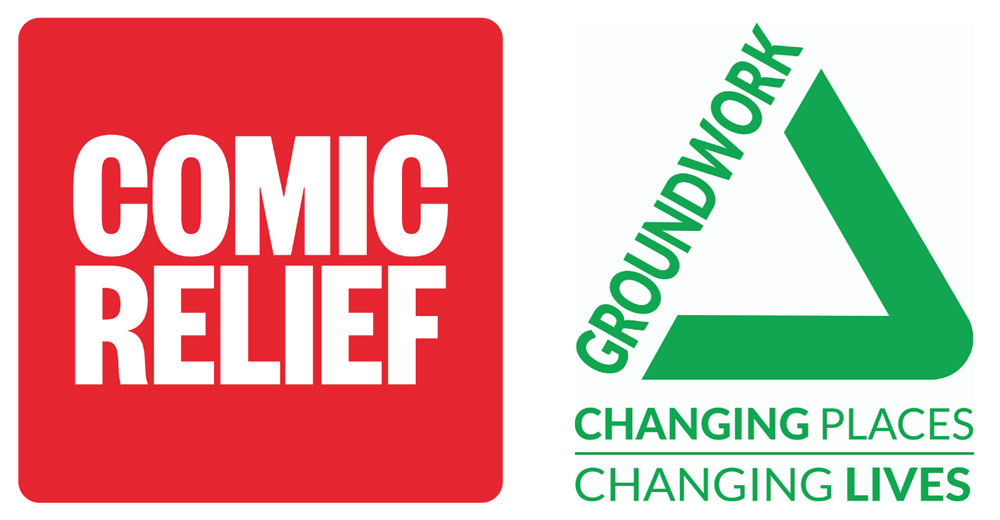 Into the Light Groundwork and Comic Relief community grants logo